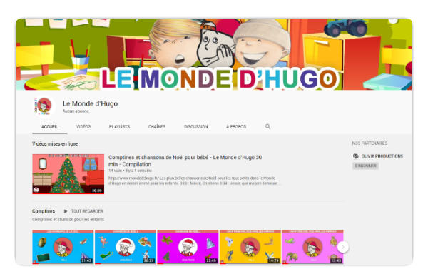Hugo sur youtube